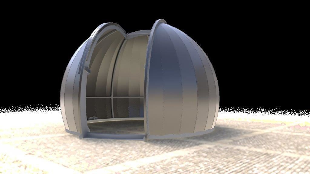 Artist Rendering of a Metal Astrodome