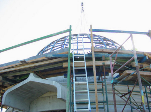 Buddhest Stupa under construction