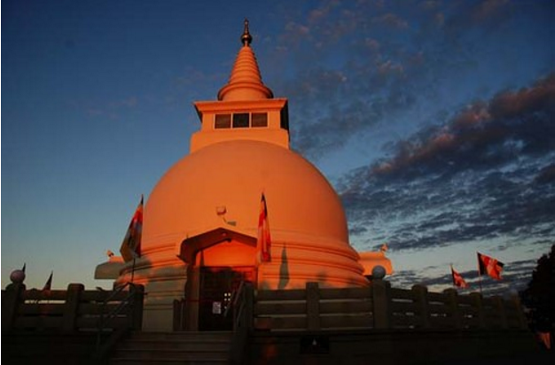 Buddhest Stupa at night